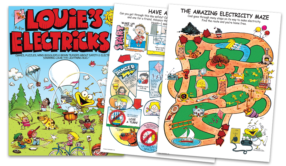 Louie's Electricks Activity Book from NorthWestern Energy