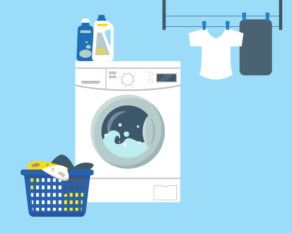 This is an illustration of a washer.
