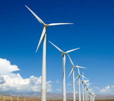 This is a photo of a wind farm.