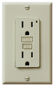 this is a photo of a GFCI plug