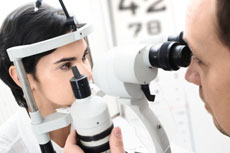 This is a photo of an eye exam.