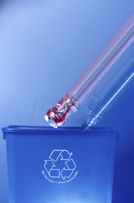 this is a photo of a recycling can