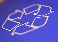 This is picture of a recycling logo.