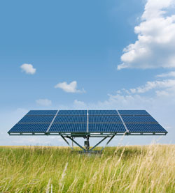 Photo of solar array.