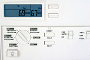 Picture of programmable thermostat.