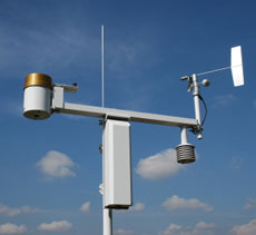 This is a photo of a weather station.